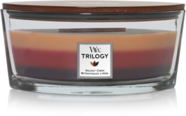 Woodwick Trilogy Holiday Cheer Ellipse Candle