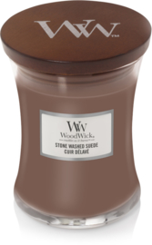 Woodwick Stone Washed Suede Medium Candle