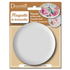 Plaquettes Rond in terracotta