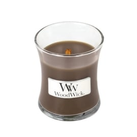 Oudwood Mini Candle WoodWick 20 branduren