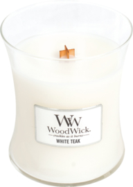 White teak medium woodwick