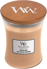 Golden milk medium woodwick