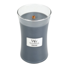 Evening Onyx Large Candle WoodWick 130 branduren