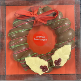 Chocolade kerst krans Albert