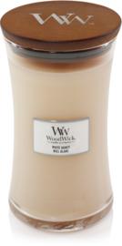 White honey large woodwick