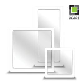 Set white Wonder Frames, 30 pieces 11*11 cm, 20 pieces 23*11 cm and 10 pieces 18*18 cm