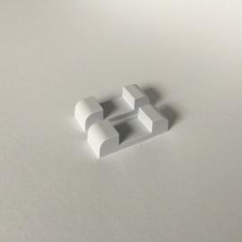 Pakket wit 18 x 18 cm: 10 stuks