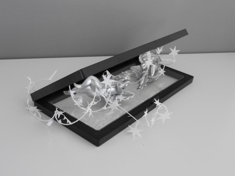 Pakket zwart 23 x 11 cm: 10 stuks