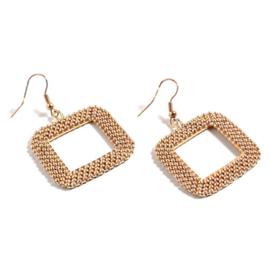 Roc11 oorbellen geometrie goud-champagne