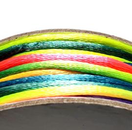 Satijnkoord 2mm regenboog