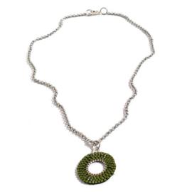 Delica11 rond-zilver-mos groen