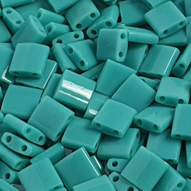 Miyuki Tila opaque turquoise green