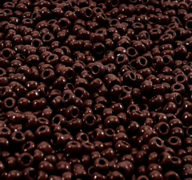Glass seed beads opaque chocolate