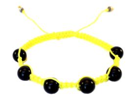 Gele macraméarmband