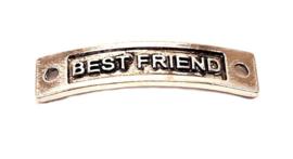 Rechthoekige tussenzetsel oudzilver best friends