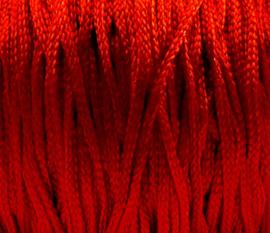 Macramé satijnkoord  rood