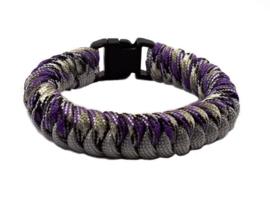 Slangenknooparmband grijs paars