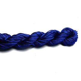 Macramé satijnkoord  kobaltblauw 1 mm