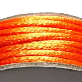 Satijnkoord 2mm oranje
