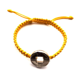 Geluksarmband effen geel