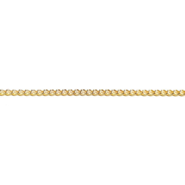 Schakelketting goud 2 mm