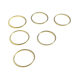 Ring plat rond 25 mm