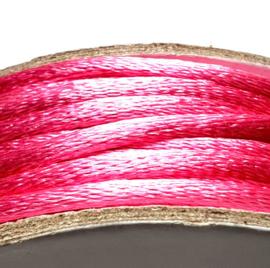 Satijnkoord  bubblegum roze 2mm