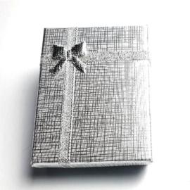 Kartonnen cadeaudoosjes zilver
