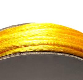 Satijnkoord 2mm geel