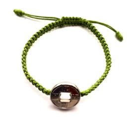 Geluksarmband effen groen nieuw