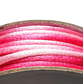 Satijnkoord 2mm roze multicolor