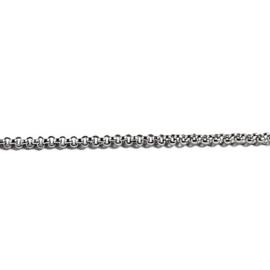 Schakelketting fijn  zilver 2,5 mm