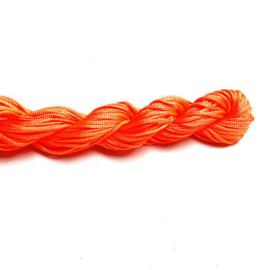 Macramé satijnkoord oranje 1mm