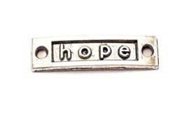 Rechthoekige tussenzetsel oudzilver hope