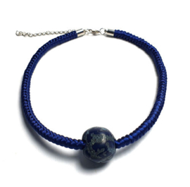 Geknoopte ketting  Maï marineblauw