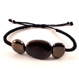 Slangenknoop armband zwartgoud