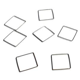 Vierkante platte ring 20 mm