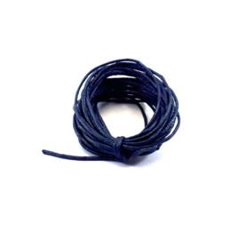 Waxkoord marineblauw ca. 3 m