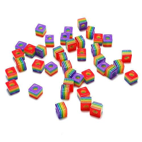Kubuskralen kunststof lichtpaars multicolor