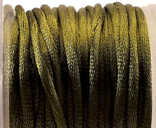 Satijnkoord  olijfgroen