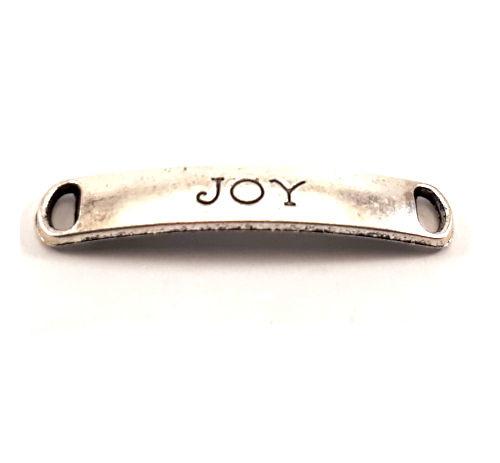 Rechthoekige tussenzetsel oudzilver Joy