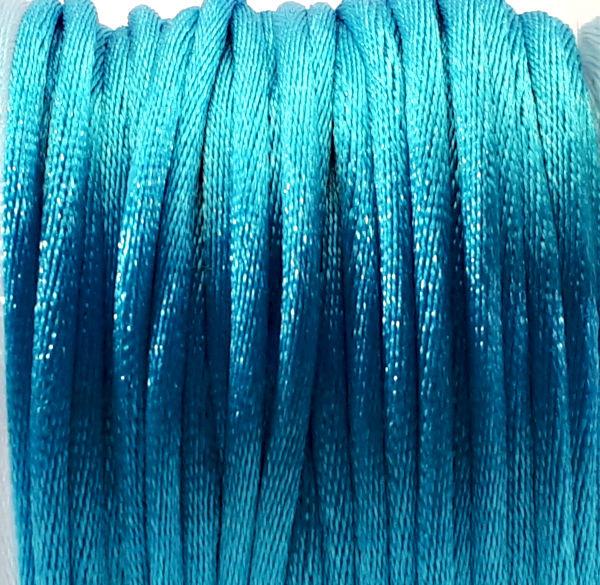 Satijnkoord  aquablauw