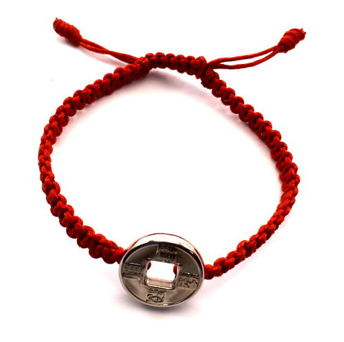Geluksarmband effen rood