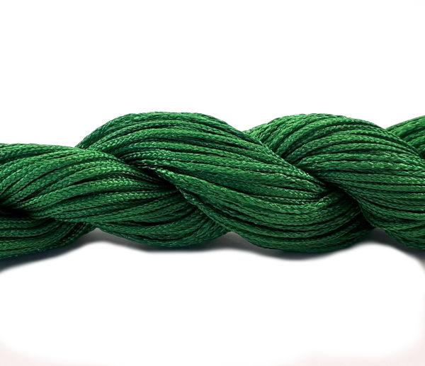 Macramé satijnkoord groen