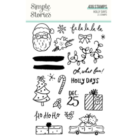 Simple Stories - Holly Days stempelset