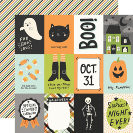 """Simple Stories - Spooky Nights 3x4 Elements Double Sided 12x12"""""""