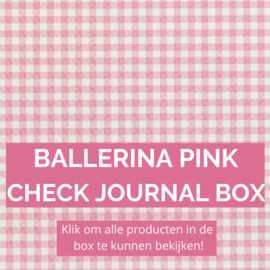 Ballerina Pink Check journal box