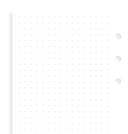 Personal White Dotted Notepaper Inserts
