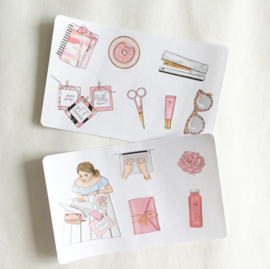 Glamour Girl - deco stickerset