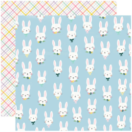 Simple Stories - Bunnies & Blooms Bunny Love Double Sided 12""